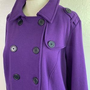 1c14384ff15 torrid Jackets   Coats - Torrid Purple Soft Double Breasted Peacoat